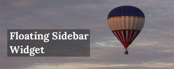 How to Create a Floating Sidebar Widget