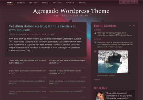 Agregado WordPress Theme