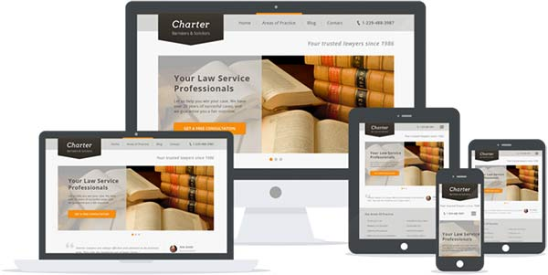 Charter responsive WordPress lawyer theme