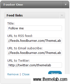 Feed Links Widget