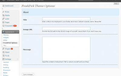FreshPick Theme Options