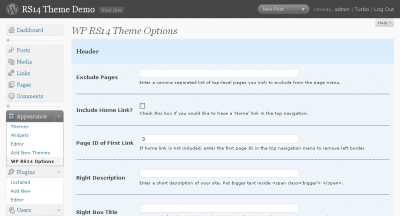 RS14 Theme Options
