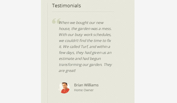 Easily add testimonials to your site